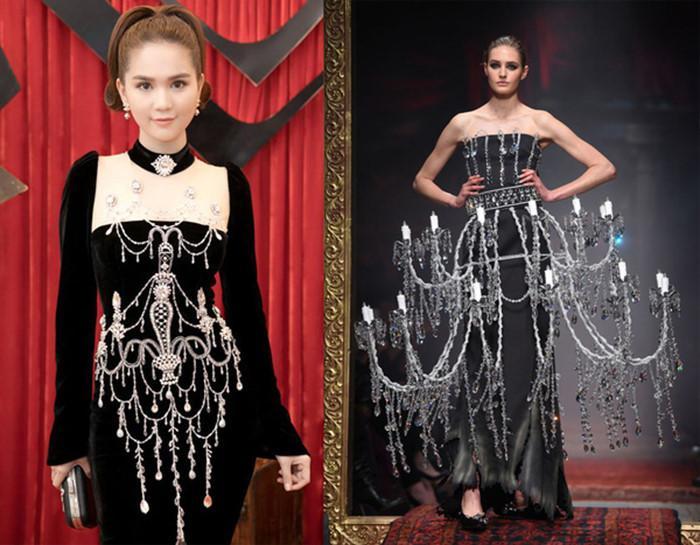 Ngọc Trinh và những lần diện váy nhái từ nhà mốt quốc tế-2