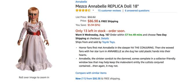 Nhờ phim, búp bê Annabelle hàng fake cũng đắt hàng!-2