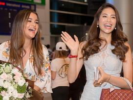 Phạm Hương hội ngộ mỹ nhân Hoa hậu Hoàn vũ sau 2 năm xa cách