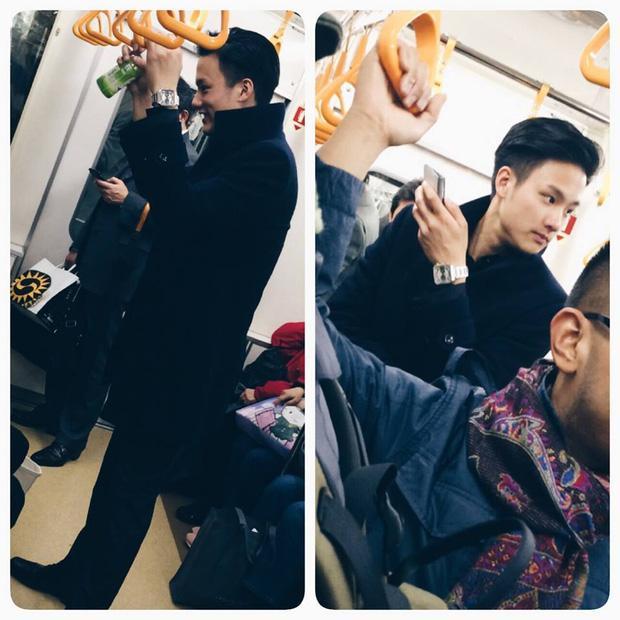 Đã đẹp trai thì ngủ quên trên xe bus như anh chàng này cũng thành 'cực phẩm'!-4