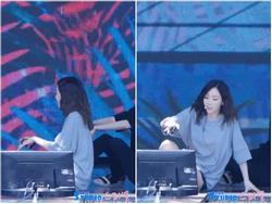 Taeyeon bị bỏng vòng 3 vì ngồi bệt xuống sân khấu