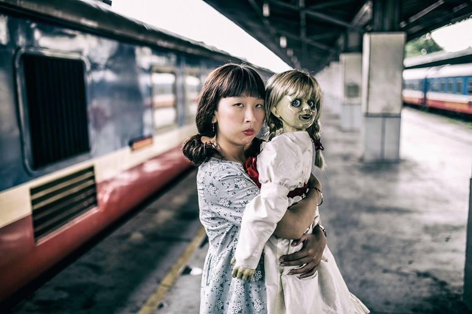 Trang Hý tung bộ ảnh 'Cùng Annabelle đi khắp thế gian' gây sốt-5