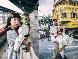 Trang Hý tung bộ ảnh 'Cùng Annabelle đi khắp thế gian' gây sốt