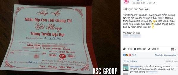 Ngỡ nhận được tấm thiệp mời ăn cưới, ai ngờ 'nhà người ta' mừng con trai đỗ đại học-2