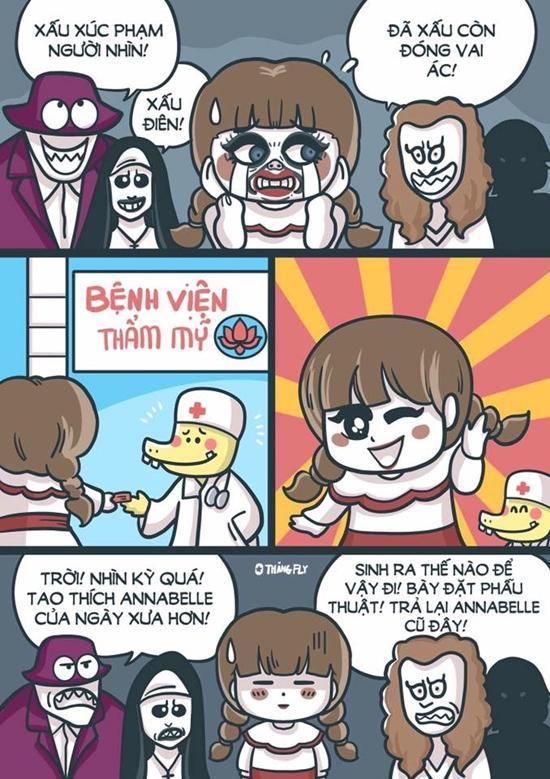 Chết cười với loạt ảnh chế búp bê ma Annabelle của cư dân mạng-11