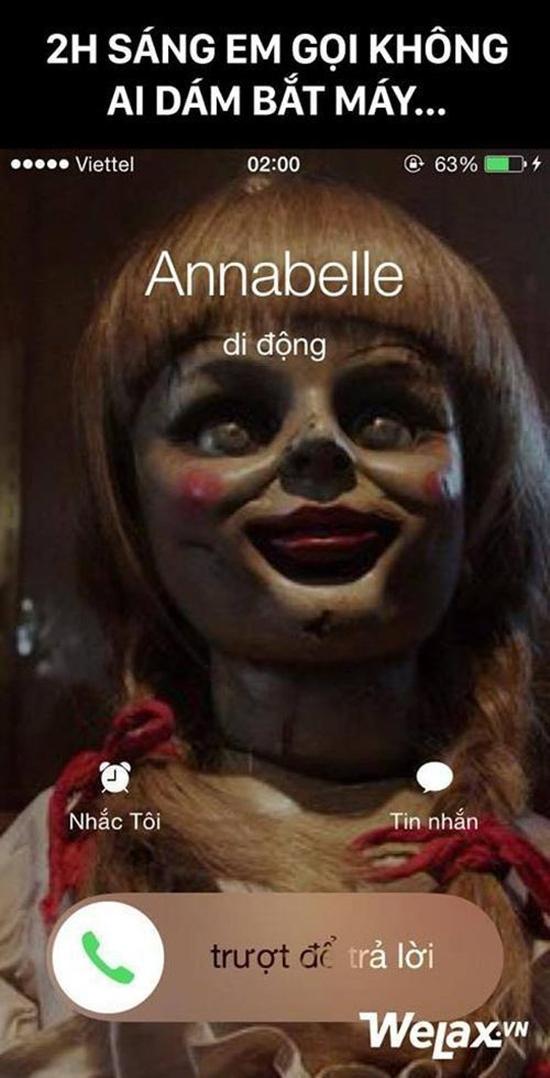 Chết cười với loạt ảnh chế búp bê ma Annabelle của cư dân mạng-1