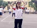 9X được gọi là 'hot girl thể dục' vì quá xinh đẹp trong giờ học