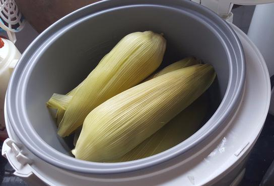 Nồi cơm điện 'thần thánh' lắm, hết luộc gà, ủ sữa chua và giờ còn luộc được ngô nữa-2