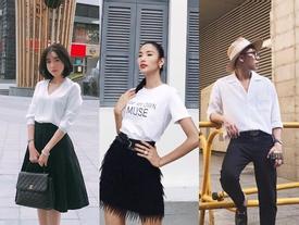 Không hẹn mà gặp, dàn sao Việt đồng loạt diện tông đen - trắng trong street style tuần này