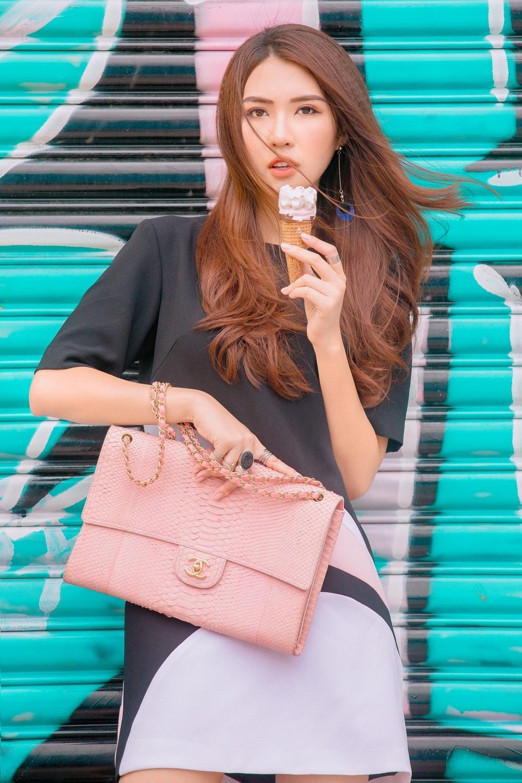 Đã mắt với street style rực rỡ màu sắc của 'Hoa hậu The Face' Tường Linh-1