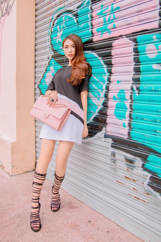 Đã mắt với street style rực rỡ màu sắc của 'Hoa hậu The Face' Tường Linh-3