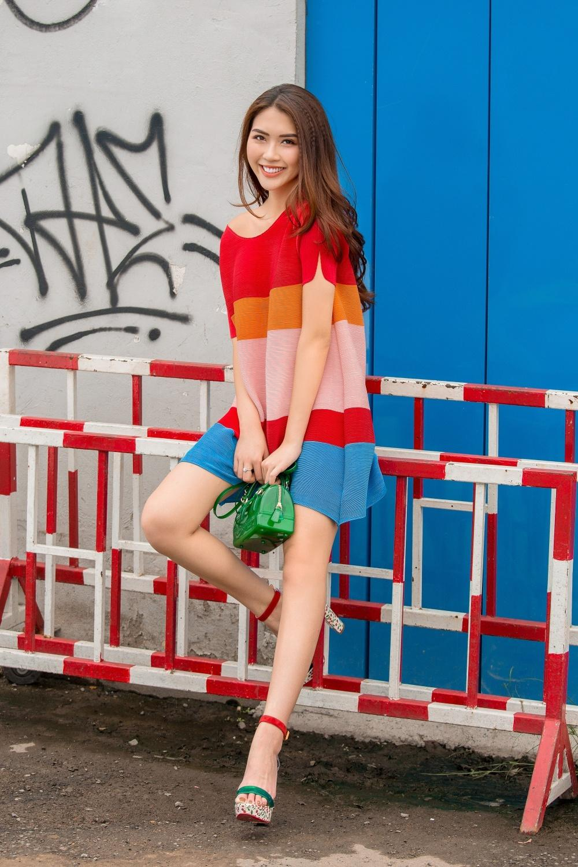 Đã mắt với street style rực rỡ màu sắc của 'Hoa hậu The Face' Tường Linh-2