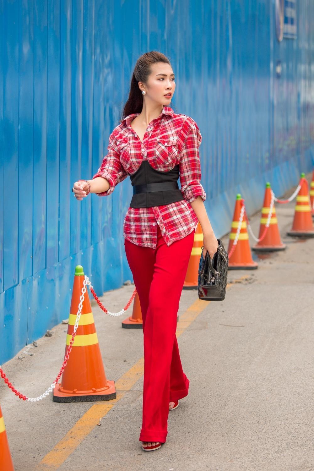 Đã mắt với street style rực rỡ màu sắc của 'Hoa hậu The Face' Tường Linh-6