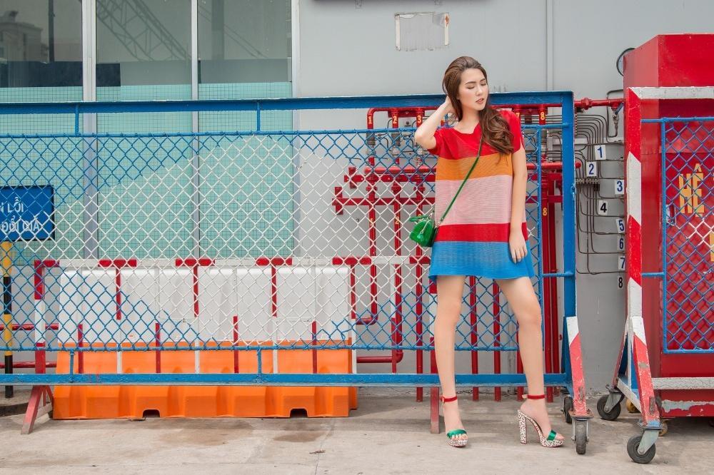 Đã mắt với street style rực rỡ màu sắc của 'Hoa hậu The Face' Tường Linh-4