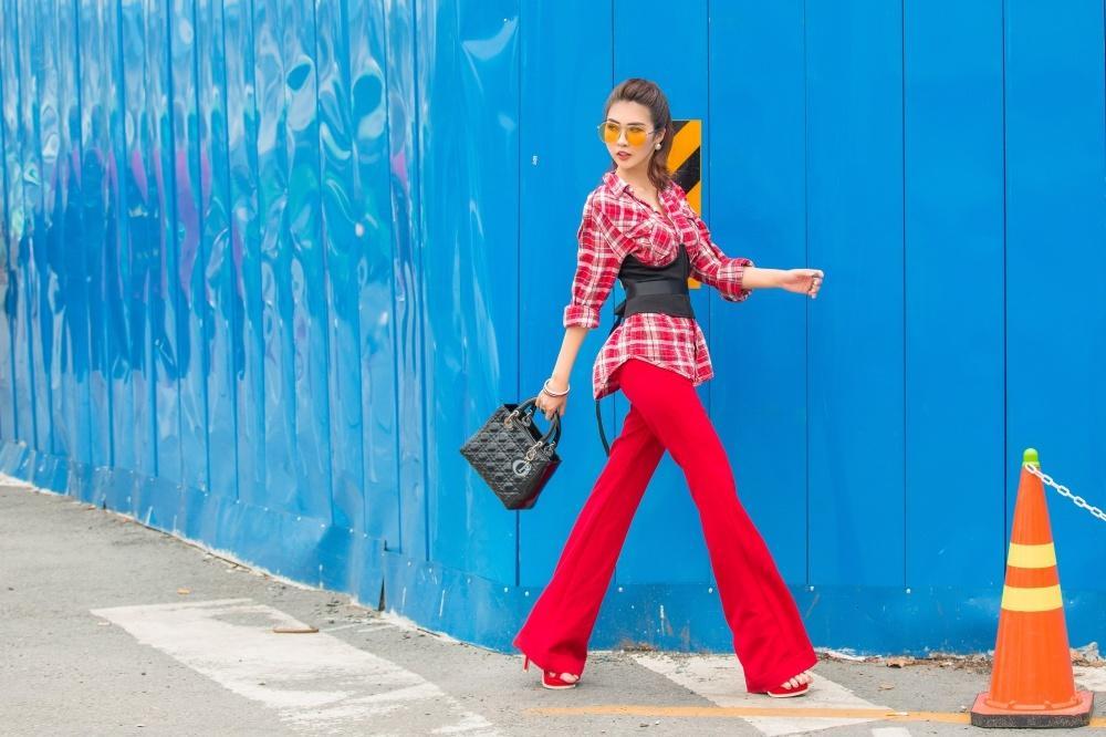 Đã mắt với street style rực rỡ màu sắc của 'Hoa hậu The Face' Tường Linh-8