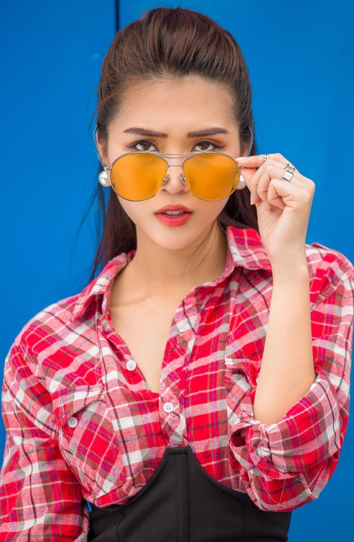 Đã mắt với street style rực rỡ màu sắc của 'Hoa hậu The Face' Tường Linh-7