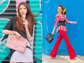 Đã mắt với street style rực rỡ màu sắc của 'Hoa hậu The Face' Tường Linh