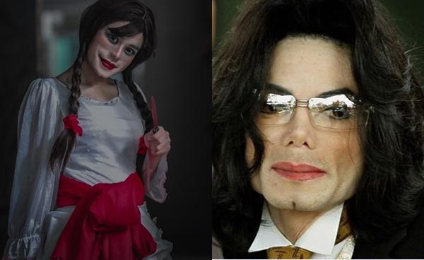 Bộ ảnh búp bê ma Annabelle 'phiên bản' cố nhạc sĩ Michael Jackson sau thẩm mỹ-3