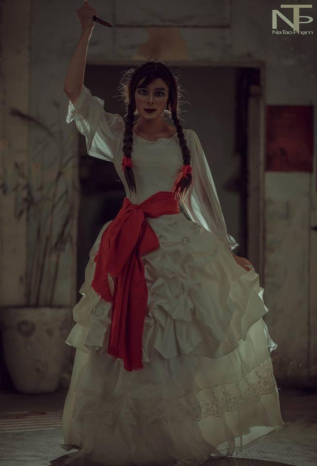 Bộ ảnh búp bê ma Annabelle 'phiên bản' cố nhạc sĩ Michael Jackson sau thẩm mỹ-7