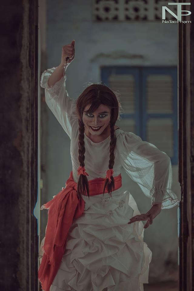 Bộ ảnh búp bê ma Annabelle 'phiên bản' cố nhạc sĩ Michael Jackson sau thẩm mỹ-8