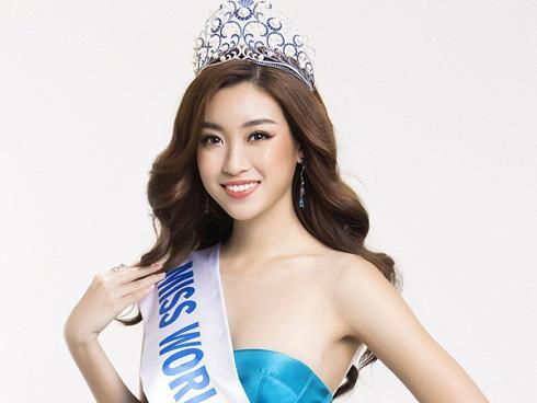 Hoa hậu Đỗ Mỹ Linh khoe vẻ đẹp tinh khôi khi trở thành 'Miss World Vietnam 2017'