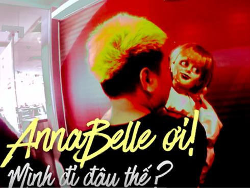 Clip: Người Sài Gòn có sợ 'phát khiếp khi bỗng nhiên nhìn thấy búp bê Annabelle ngoài đường phố?