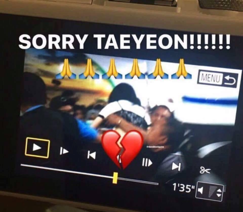 Xuất hiện không vệ sĩ, trưởng nhóm SNSD Taeyeon bị fan đẩy ngã và sàm sỡ-2