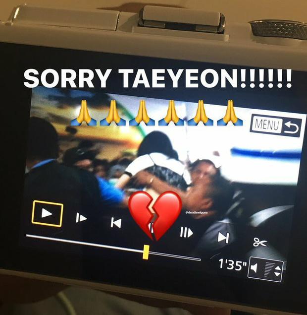 Ngày xui 'sấp mặt' của Taeyeon: Ngã giữa sân bay, camera đập trúng đầu, truyền thông bịa đặt-5