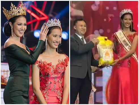 Chuyện thật như đùa: Tân Hoa hậu Hòa Bình Campuchia 2017 được thưởng... một bao gạo