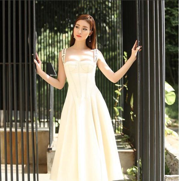 Hoa hậu Đỗ Mỹ Linh chuộng phong cách công chúa-1