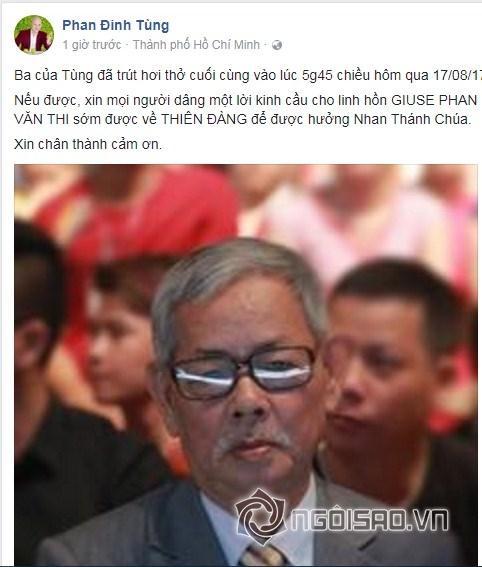 Sao Việt chia buồn khi bố của Phan Đinh Tùng qua đời-1