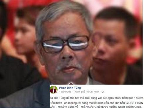 Sao Việt chia buồn khi bố của Phan Đinh Tùng qua đời