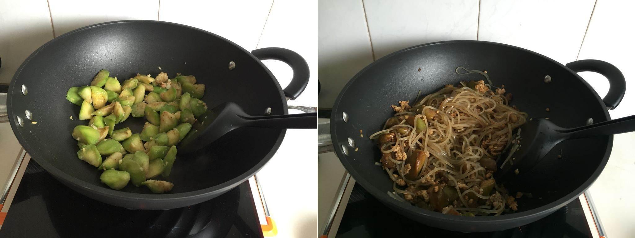 Bữa sáng thật ngon với miến xào thịt bằm giản dị-3