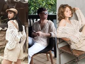 Quá mê style áo lưới, dàn hot face Việt trai gái đều mặc bất kể đẹp xấu