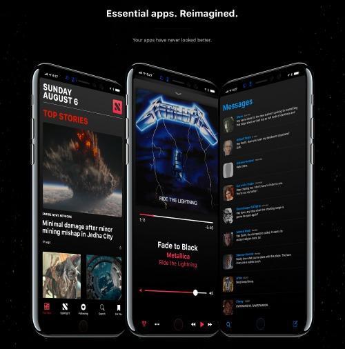 Ngắm concept iPhone 8 UI với thanh Home Bar thông minh-6