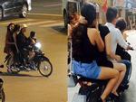 Cảnh sát tìm ra quái xế đứng trên yên xe máy đang chạy ở Đà Nẵng-2