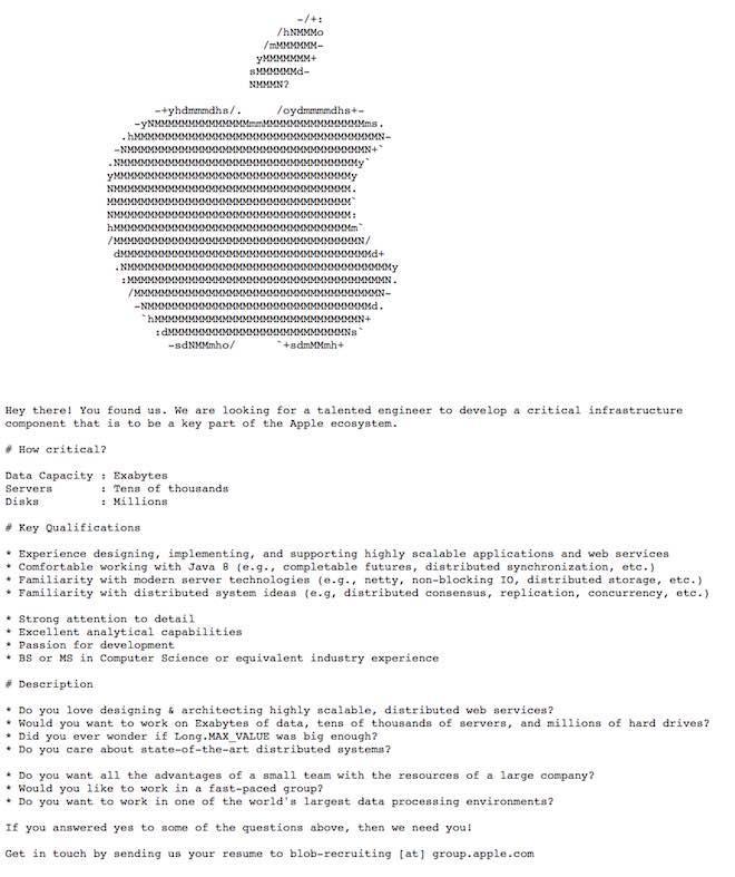 Cách đăng tin tuyển dụng chẳng giống ai của Apple-1