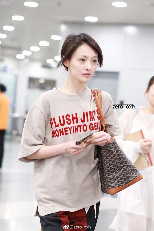 Bận quần đùi ra sân bay, đi sự kiện không thèm make up, nữ thần học đường Trịnh Sảng ngày càng xuề xòa-3
