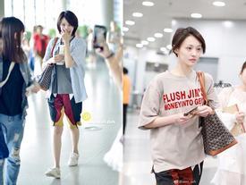 Bận quần đùi ra sân bay, đi sự kiện không thèm make up, 'nữ thần học đường' Trịnh Sảng ngày càng xuề xòa