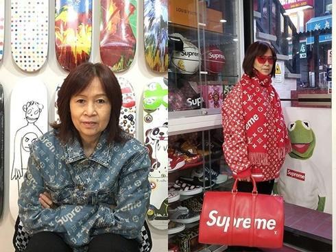 Cánh thanh niên lác mắt với bà cô 'chất chơi', phô trương cả BST Supreme X Louis Vuitton