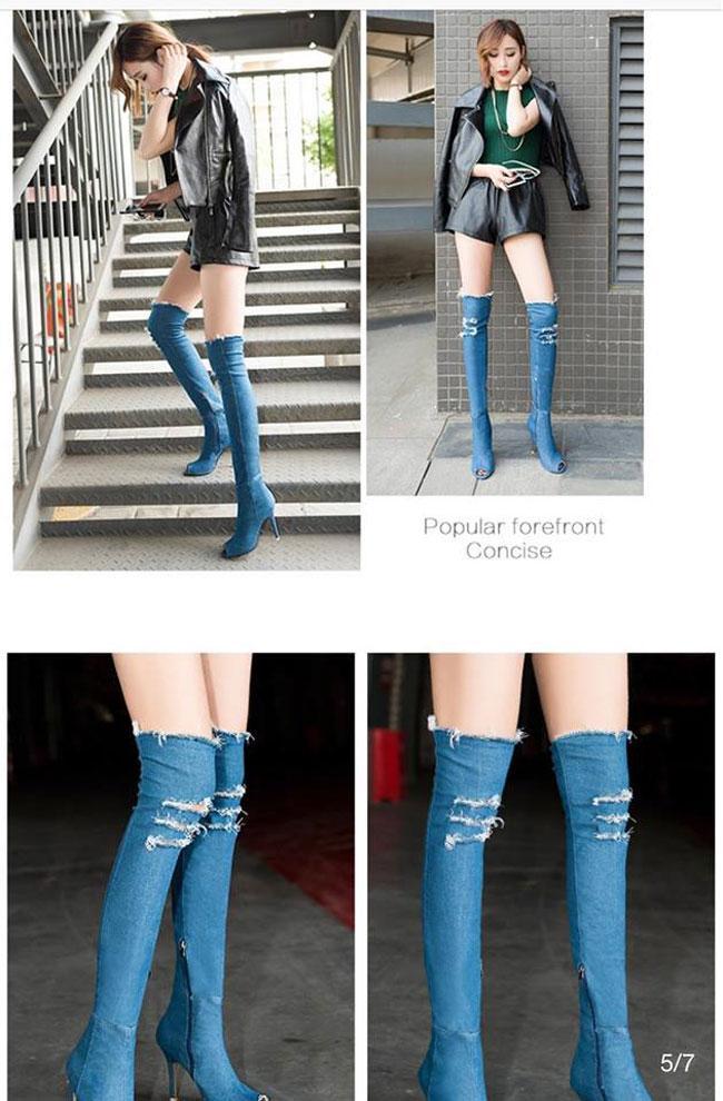 Boot denim bị chê tả tơi của Kim Kardashian lại hot bất ngờ tại các shop thời trang Việt-8