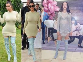 Boot denim bị chê tả tơi của Kim Kardashian lại hot bất ngờ tại các shop thời trang Việt