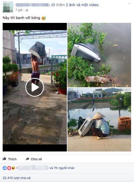 Cổ động viên ngầu nhất quả đất: Ném ti vi xuống hồ sau trận thua của Việt Nam-1