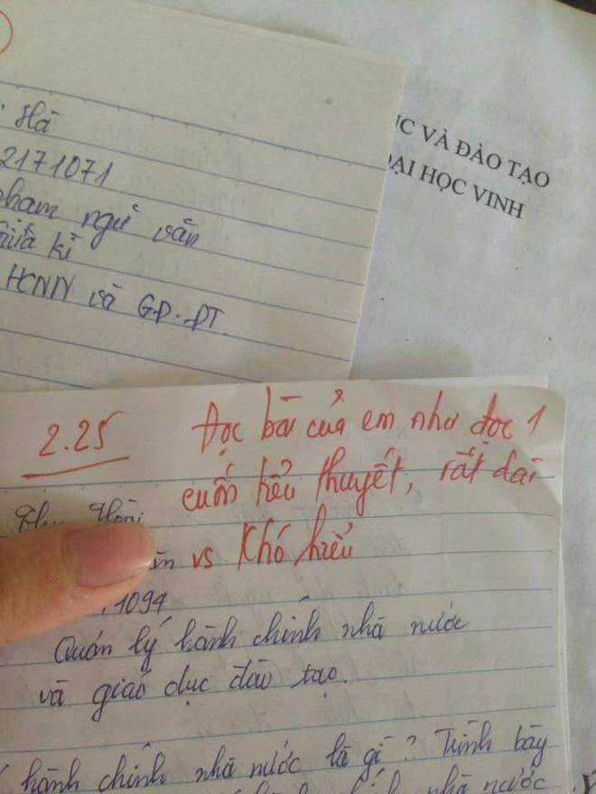 Thầy giáo trẻ đại học Vinh và loạt lời phê bá đạo: Nhan sắc tỷ lệ nghịch với chữ viết-7