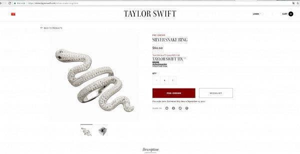 Tung bài hát toàn rắn chưa đủ, Taylor ra mắt hẳn sản phẩm nhẫn hình rắn luôn cho ngầu!-5