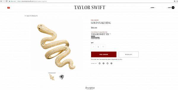 Tung bài hát toàn rắn chưa đủ, Taylor ra mắt hẳn sản phẩm nhẫn hình rắn luôn cho ngầu!-6