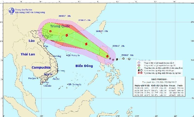 Bão giật cấp 11 tiến vào biển Đông, 2 miền Nam Bắc mưa to-1