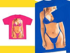 Tự biết dáng đẹp, Kylie Jenner in luôn áo phông hình body của mình để bán