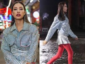 Dù không hẹn, Lilly Nguyễn vẫn 'tư tưởng lớn' gặp… Hoàng Thuỳ nhờ mẫu áo denim này!