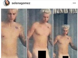 Ảnh nude của Justin bị hacker đăng tải trên Instagram của Selena